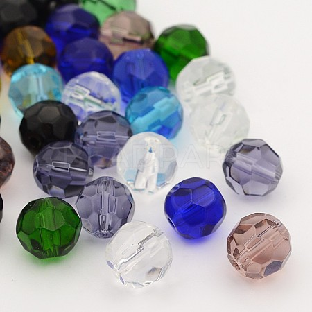 Faceted Glass Round BeadsX-GF10MM-1