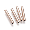 Vacuum Plating 304 Stainless Steel Tube Beads STAS-G197-01RG-1
