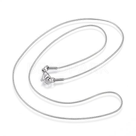 304 Stainless Steel Snake Chain NecklacesNJEW-D285-02P-1