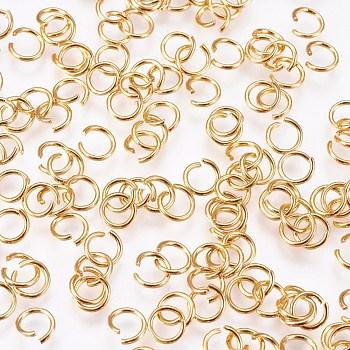 304 Stainless Steel Jump Rings, Open Jump Rings, Golden, 5x0.7mm
