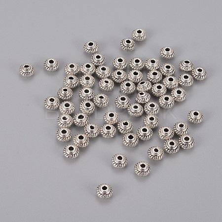 Tibetan Silver Antique Silver Bicone Spacer BeadsX-LFH10167Y-1
