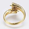 Environmental Brass Finger Ring ComponentsKK-F734-05G-NR-2
